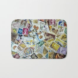 Postage Stamp Collection Bath Mat