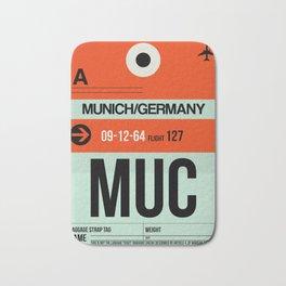 MUC Munich Luggage Tag 2 Bath Mat