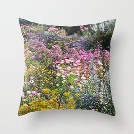Wildflowers by Day Throw Pillow