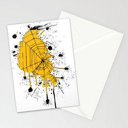 Spiderweb spiders ink splash Stationery Cards