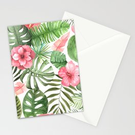 Watercolor Tropical Floral #6 Stationery Cards