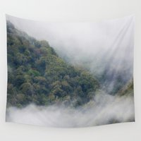 fog Wall Tapestries featuring Fog by Michelle McConnell