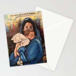 For Unto Us A Child is Born Stationery Cards