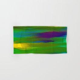Green Mardi Gras Abstract Hand & Bath Towel