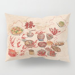 Famous Spicy Chinese Cuisine Pillow Sham