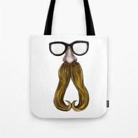 glasses Tote Bags featuring Glasses by Yousef Balat @ Hoop Snake Graphics LLC