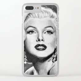 Drawing Marilyn Clear iPhone Case