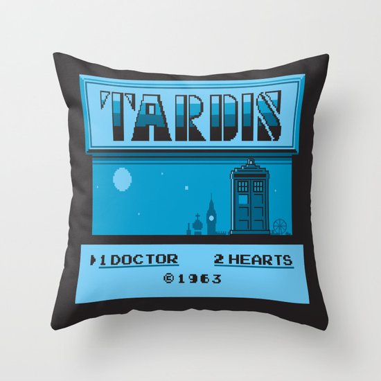 1 Doctor, 2 Hearts Throw Pillow