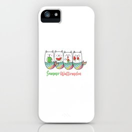 Summer Mermaid cat  iPhone Case