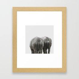 Monochrome - Big buddies Framed Art Print