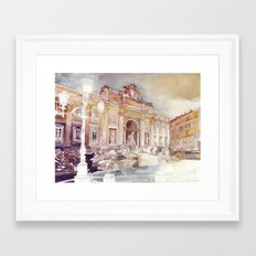 Trevi Fountain Framed Art Print