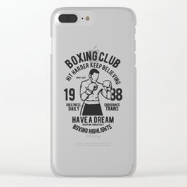 boxing club Clear iPhone Case