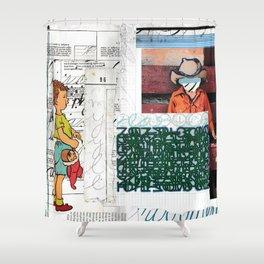 Script Shower Curtain