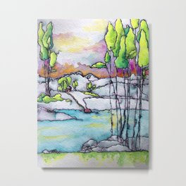 sunny day by the river Metal Print