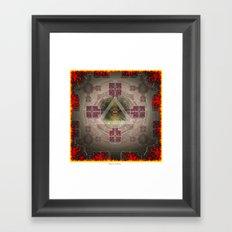 Fire and Eye Framed Art Print