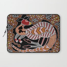 Authentic Aboriginal Art - Kangaroo Dreaming Laptop Sleeve
