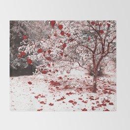 Camellia bush Throw Blanket