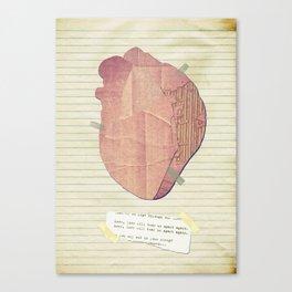 Love, love will tear us apart again Canvas Print