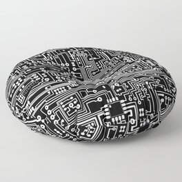Circuit Board on Black Floor Pillow