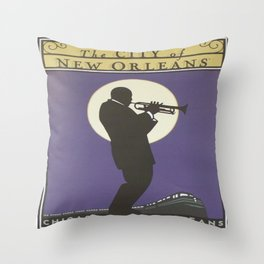 Vintage poster - City of New Orleans Throw Pillow