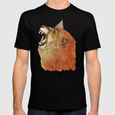 Birthday Lion SMALL Mens Fitted Tee Black