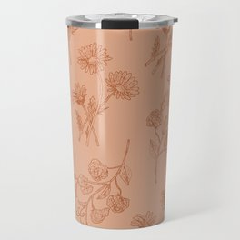 Vintage Daisy & Sweet Pea Travel Mug
