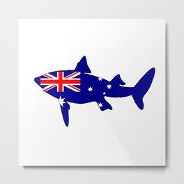 Australian Flag - Shark Metal Print