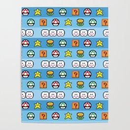 Pixel retro game Poster