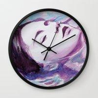 siren Wall Clocks featuring Siren by Arielle Walker