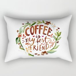 Coffee, my BFF Rectangular Pillow