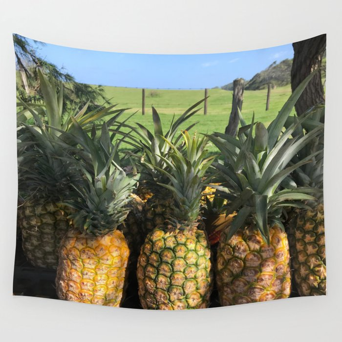 roadside pineapples in Hawaii Wall Tapestry
