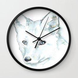 Fox, Watercolor Wall Clock