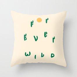 Forever Wild Cacti Throw Pillow