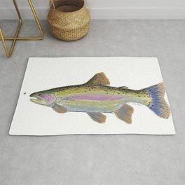 Rainbow Trout & Fly Rug