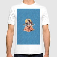 Man on the Moon Mens Fitted Tee White MEDIUM