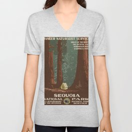Vintage poster - Sequoia National ParkX Unisex V-Neck