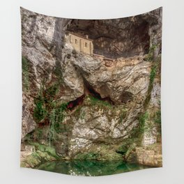 The Holy Cave of Covadonga Wall Tapestry