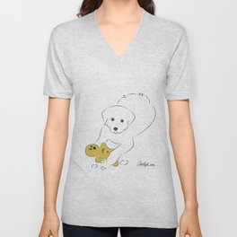 Gingerbread Gets It - Great Pyrenees Humor Unisex V-Neck