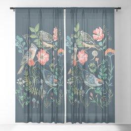 Birds Garden Sheer Curtain