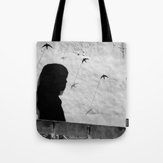 Girl in Córdoba Tote Bag