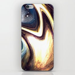 returning to the cosmos | Abstract Painting iPhone Skin