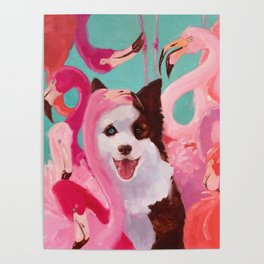 Flamingo party Poster