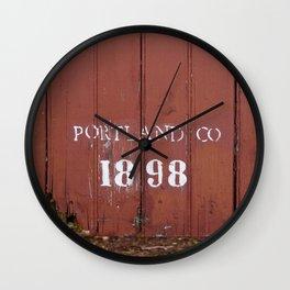 Portland Co. 1898 Wall Clock