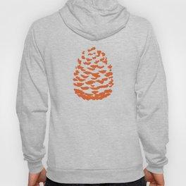 Pinecone Orange Hoody