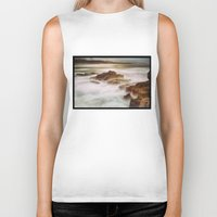 calm Biker Tanks featuring Calm by SpaceFrogDesigns