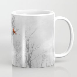 Red birds Cardinals Tree Fog A112 Coffee Mug