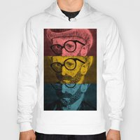 van gogh Hoodies featuring Hipster Van Gogh by Josrick