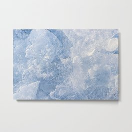 Abstract Ice Texture Metal Print
