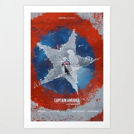 Inspired Movie Poster Captain Americ a the first avenger. Capitan America. Art Print