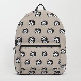 Boston Terrier Loaf - Black and White Dog Backpack
